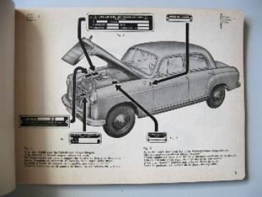 oldtimerbedarf mercedes benz sedan 190 b parts catalog table 1959. Cars Review. Best American Auto & Cars Review