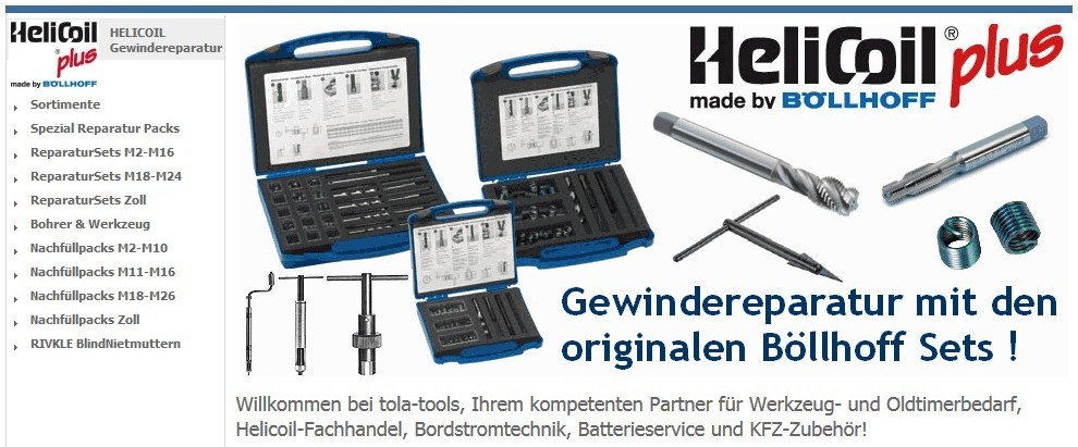 helicoil reparatur kit injektor gewinde mercedes benz. Black Bedroom Furniture Sets. Home Design Ideas