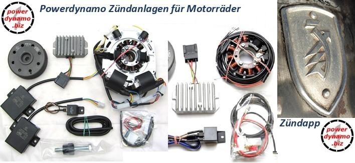 Powerdynamo Zündanlagen für Zündapp Motorräder