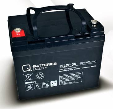 Q-Batteries 12LCP-36 - AGM 12V/36Ah - Zyklentyp