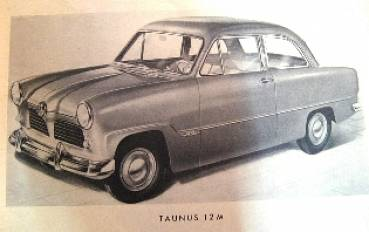 Ford Taunus 12m - Spare Parts List 1952