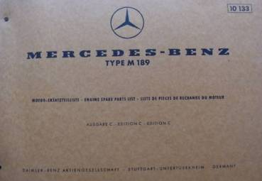 Mercedes Benz M189 - Parts Catalog Engine 1967