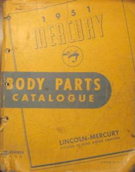 Lincoln Mercury - Body Parts Catalog 1951