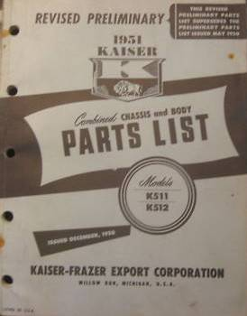 Kaiser - Combined Chassis and Body Parts Catalog 1950