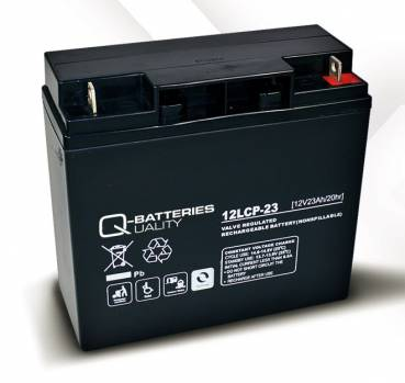 Q-Batteries 12LCP-23 - AGM 12V/23Ah - Zyklentyp