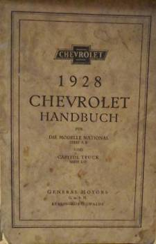 Chevrolet 1928 - Owner's Manual