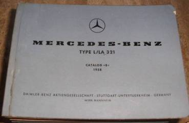 Mercedes Benz Type L LA 321 - Engine Parts catalog 1958