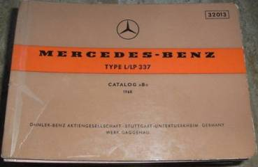 Mercedes Benz Type L LP 337 - Engine Parts catalog 1960
