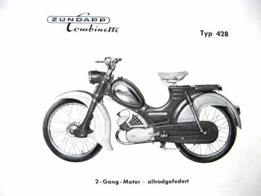 Zundapp 428 Combinette - Parts Catalog 1959