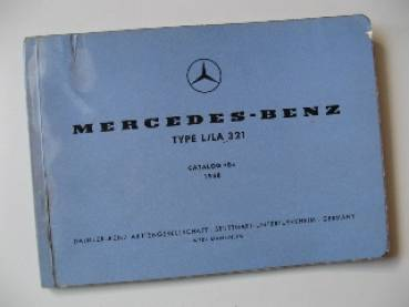 Mercedes Benz L LA 321 - Parts catalog 1958