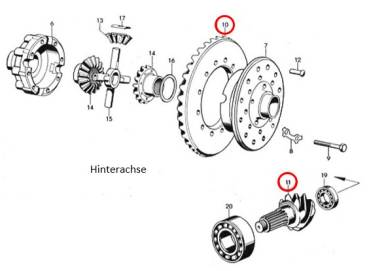 Borgward B4000 B4500 B544 B555 B655 Main Axle Gear
