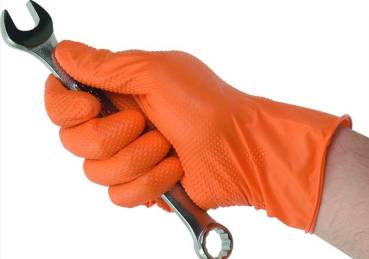 Kunzer Nitril Gloves orange - Size XL
