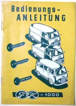 Ford Kombi FK1000 - Owner's Manual 1954