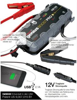 NOCO GB150 Boost HD 4000A UltraSafe Lithium Jump Starter