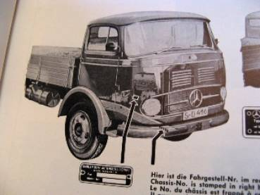 Mercedes Benz LP/ LAP 328 - Parts catalog 1961