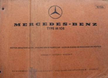 Mercedes Benz M108 - Parts Catalog Engine 1968