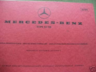 Mercedes Benz M116 - Parts Catalog Engine 1971