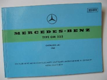 Mercedes Benz OM 322 - Engine Parts Catalog Tables 1961
