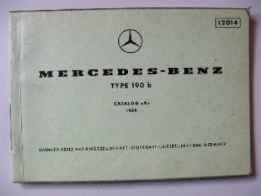 Mercedes Benz Sedan 190 b - Parts Catalog Table 1959