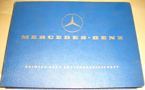 Mercedes Benz Sedan 190b W121 - Parts Catalog 1959