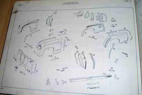 Mercedes Benz Parts Catalog >> Mercedes Benz Sedan 190b W121 Parts Catalog 1959