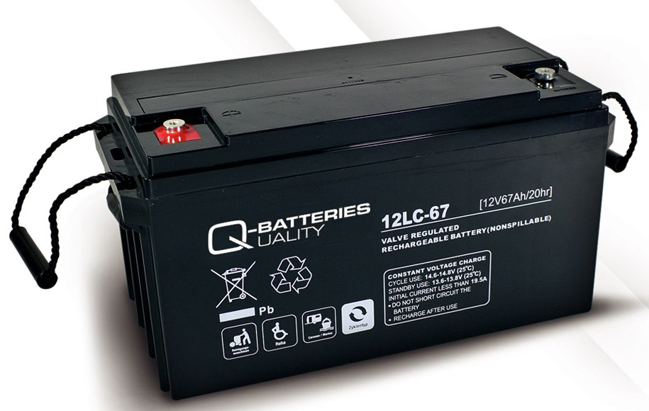 q batteries 12lc 67 agm 12v 67ah battery online tola. Black Bedroom Furniture Sets. Home Design Ideas