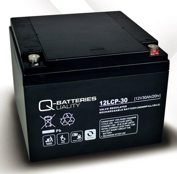 q batteries 12lcp 30 agm 12v 30ah battery online. Black Bedroom Furniture Sets. Home Design Ideas