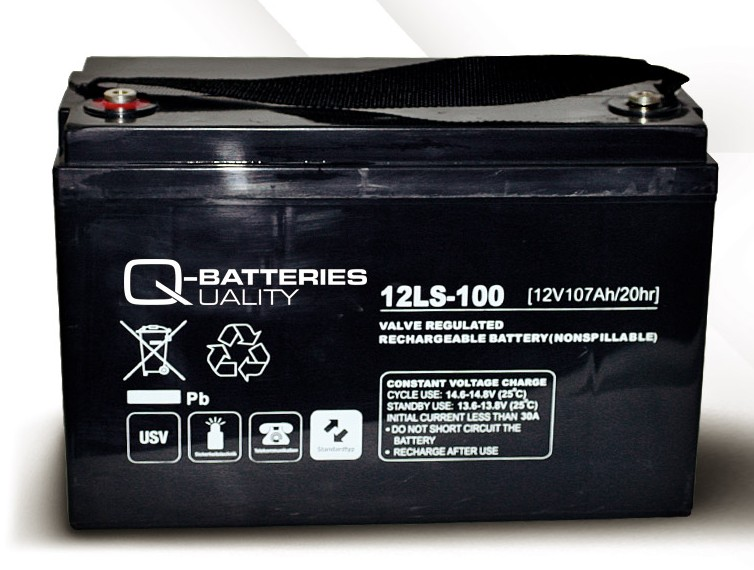 q batteries agm ls typ 12v 107ah 12ls 100 battery online. Black Bedroom Furniture Sets. Home Design Ideas