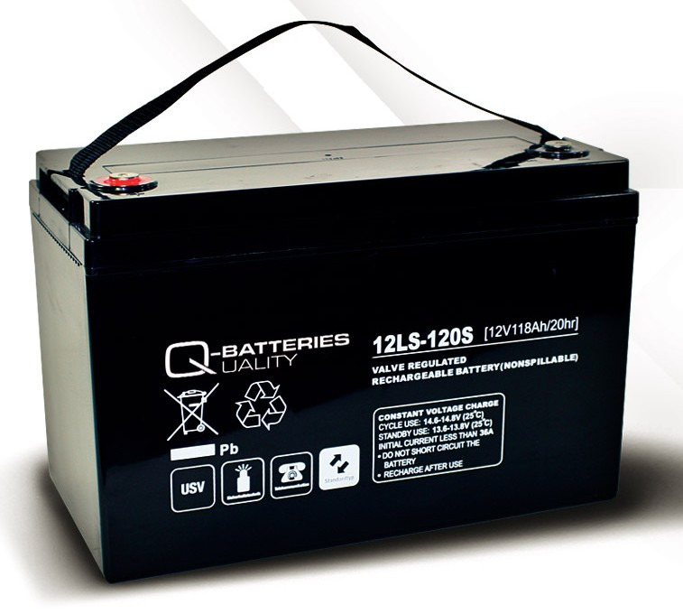 q batteries agm ls typ 12v 118ah 12ls 120s battery online. Black Bedroom Furniture Sets. Home Design Ideas