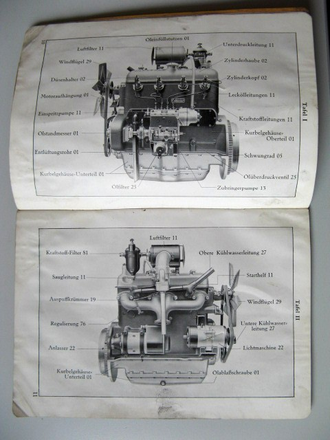 Mercedes benz om 138 parts catalog engine 1937 for Original mercedes benz parts online
