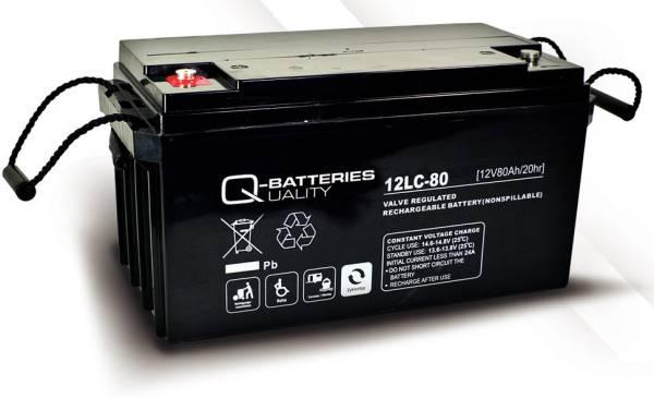 q batteries 12lc 80 agm 12v 80ah battery online. Black Bedroom Furniture Sets. Home Design Ideas