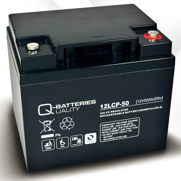q batteries 12lcp 50 agm 12v 50ah battery online. Black Bedroom Furniture Sets. Home Design Ideas