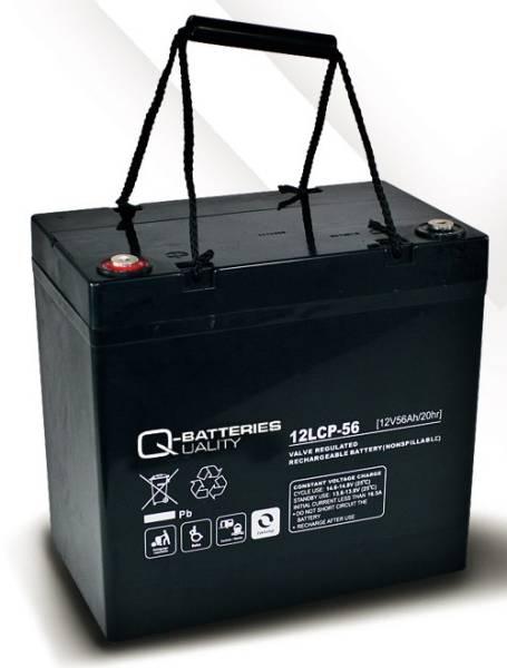 q batteries 12lcp 56 agm 12v 56ah battery online. Black Bedroom Furniture Sets. Home Design Ideas
