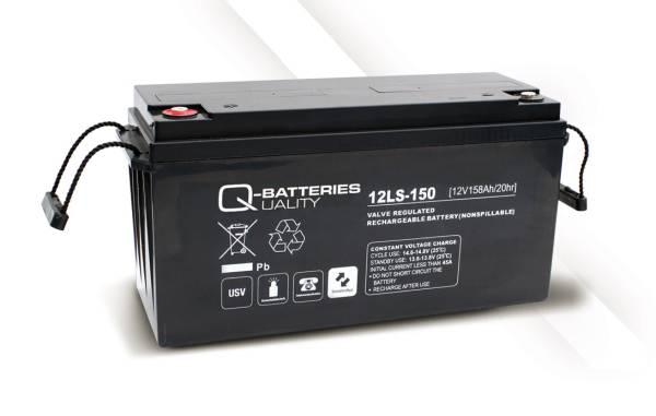 q batteries agm ls typ 12v 150ah 12ls 150 battery online. Black Bedroom Furniture Sets. Home Design Ideas
