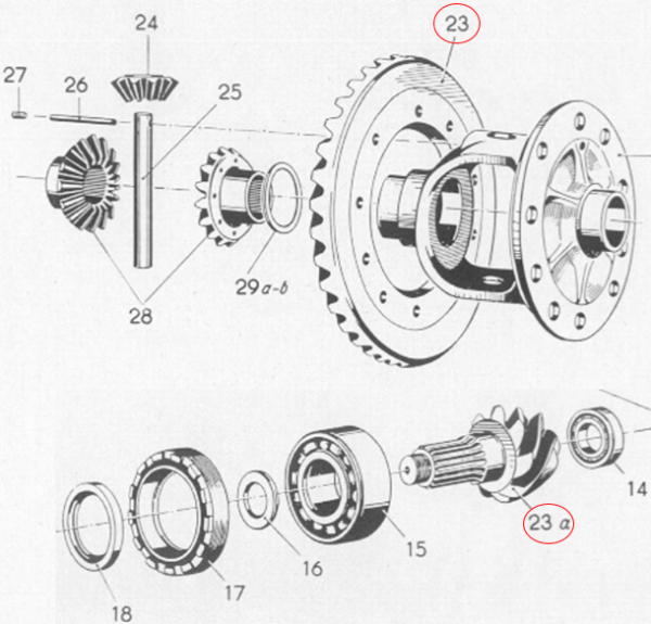 Borgward B1500 B511 Plate Bevel Gear