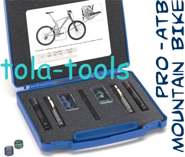 "HELICOIL Repair Set UN 9/16"" for Bicycle Pedal Arms"