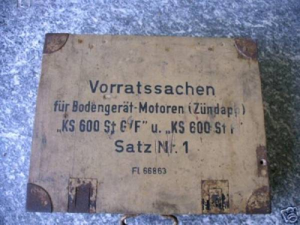 Original wooden Maintenance Box KS600 Generator