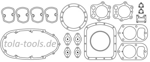 Gasket Set Zündapp KS750 engine housing