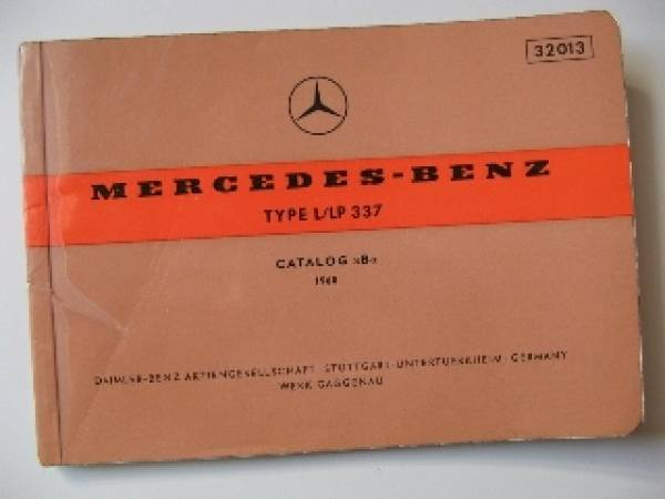 Mercedes Benz L LP 337 - Parts catalog 1960